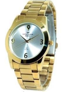 Relógio Feminino Backer Analógico 3992145F - Unissex-Dourado