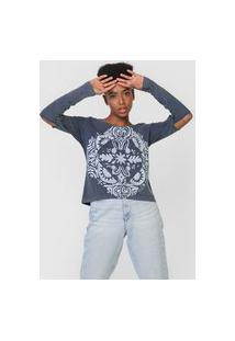 Camiseta Roxy Part Bann Azul-Marinho