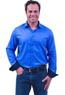 Camisa Lupim Algodão Azul