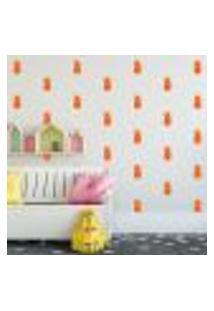 Adesivo Decorativo De Parede - Kit Com 40 Abacaxis - 028Kaa09