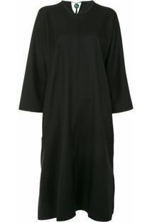 Sofie D'Hoore Vestido Mangas Longas De Lã - Preto