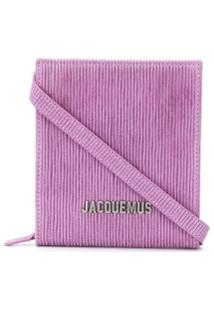 Jacquemus Bolsa Tiracolo Com Logo De Letras E Listras - Rosa