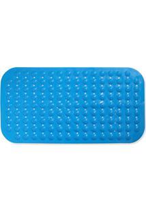 Tapete Antiderrapante Massageador Para Pés 69X36Cm Azul