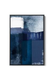 Quadro 75X50Cm Abstrato Textura Eskuila Moldura Flutuante Filete Preta