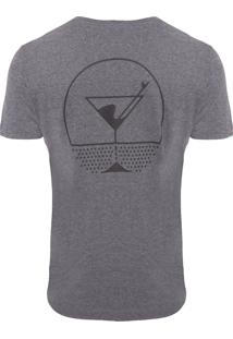 Camiseta Masculina Sunset Cocktails - Cinza