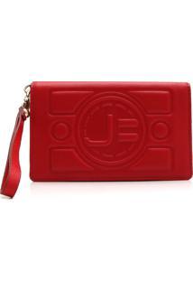 Carteira Couro Jorge Bischoff Logo Vermelha