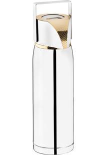 Garrafa Térmica Pump Com Ampola 1,8L Detalhe Em Ouro 24K – Riva