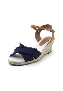 Anabela Flats&Co Lona Azul