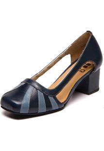 Sapato Brenda Le - Passiflora / Riverside 7316 - Azul - Feminino - Dafiti