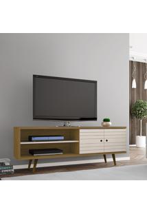 Rack Móveis Bechara Onix Tv Até 60 Pol 2 Portas Cinamomo/Off-White