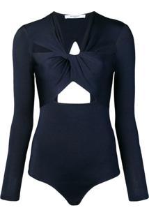 Givenchy Body Com Detalhe Torcido Frontal - Azul