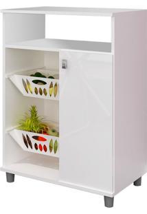 Armário Para Micro-Ondas Com Fruteira Gran 1 Pt Branco