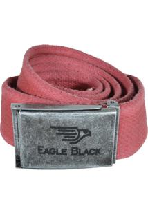 Cinto Eagle Black Gorgurão Vermelho