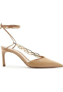 Scarpin Mid Heel Lace-Up Chain Neutral | Schutz