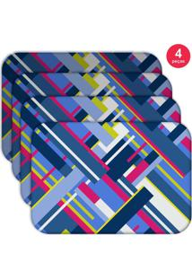 Jogo Americano Love Decor Wevans Geometric Shapes Kit Com 4 Pçs