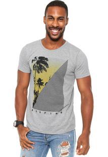 Camiseta Fiveblu Surfing Cinza
