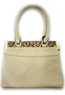 Bolsa Casual Sys Fashion 8536 Feminina - Feminino-Branco+Bege