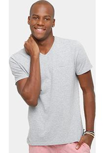 Camiseta Calvin Klein Gola V Básica Masculina - Masculino
