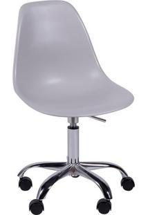 Cadeira Eames Com RodãZio- Cinza & Prateada- 93X47X4Or Design