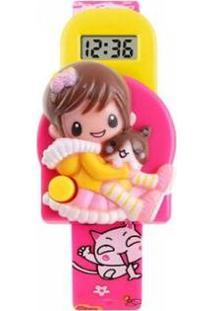 Relógio Infantil Skmei Digital Feminino - Feminino-Rosa