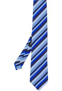 Etro Gravata Listrada - Azul