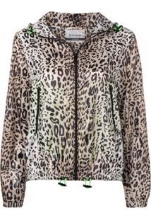Pinko Leopard Print Hooded Jacket - Neutro