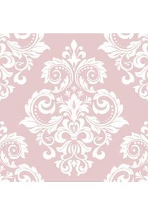 Papel De Parede Arabesco Floral Rosa Nobre 57X270Cm - Tricae