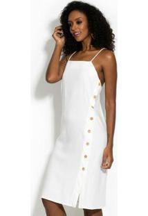 Vestido Em Linho Branco