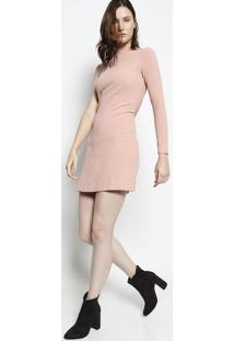 Vestido Assimétrico Texturizado - Rosê- Moiselemoisele