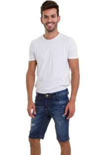 Bermuda Jeans Versani Masculina - Masculino-Azul