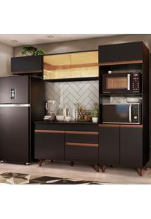 Cozinha Completa Madesa Reims 260001 Com Armário E Balcão - Preto