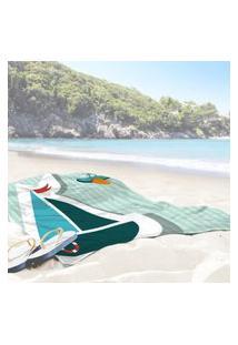 Toalha De Praia / Banho Barquinho Único
