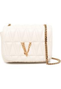 Versace Bolsa Transversal Matelassê Virtus - Neutro