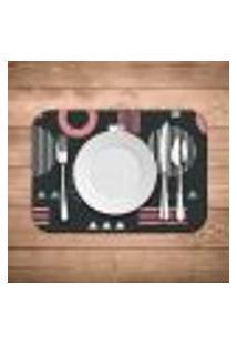 Jogo Americano Wevans Geometric Pink Kit Com 6 Pçs