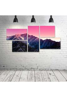 Quadro Decorativo - Alabama-Hills - Composto De 5 Quadros - Multicolorido - Dafiti