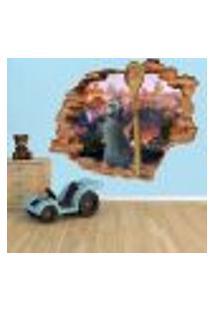 Adesivo De Parede Buraco Falso 3D Infantil Ratatouille - G 82X100Cm