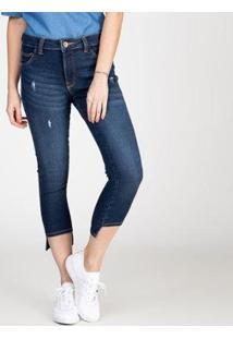 Calça Jeans Bloom Skinny Com Barra Assimétrica Feminina - Feminino