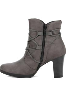 Bota Ankle Boot Piccadilly Cinza