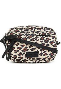 Bolsa Anacapri Mini Bag Pqn Lona Estampada Feminina - Feminino-Onça