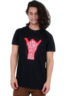 Camiseta Los Fuckers West Coast - Masculino-Preto
