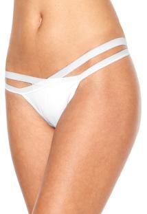 Calcinha Calvin Klein Underwear String Duplo Branca