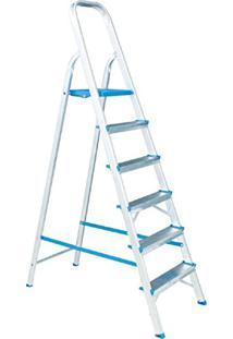Escada Residencial De Alumínio Alumasa 6 Degraus
