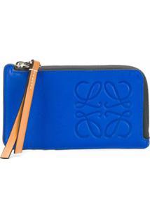 Loewe Carteira Com Logo Gravado - Azul