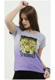 Blusa Feminina Estampa Animal Print Manga Curta