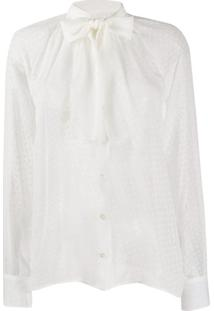 Dolce & Gabbana Blusa Com Laço Na Gola - Branco