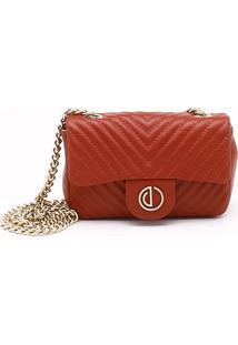 Bolsa Shoulder Bag Couro Matelassê Rubi Brick - P