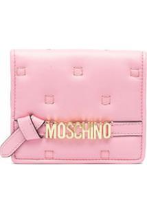 Moschino Carteira Com Detalhe De Pesponto - Rosa