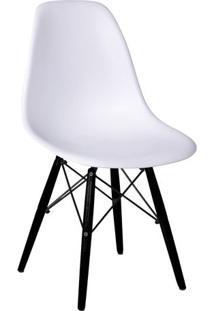 Cadeira Eames Dkr- Branca & Madeira Preta- 80,5X46,5Or Design