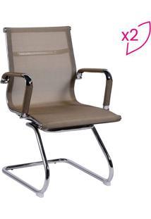 Jogo De Cadeiras Office Eames Tela- Cobre & Prateadoor Design