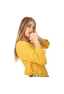 Blusa Gap Tiny Dots Amarela/Branca